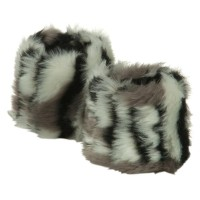 Warmer - Tiger White Black Critter Faux Fur Bracelet