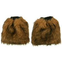 Band - Camel Critter Faux Fur Leg Warmer