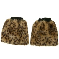 Band - Cheetah Critter Faux Fur Leg Warmer