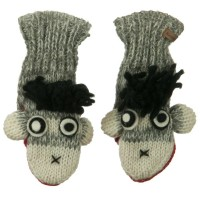 Glove - Punk Monkey Child Animal Wool Mitten