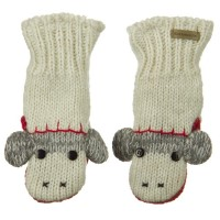 Glove - White Monkey Child Animal Wool Mitten