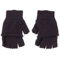 Glove - Purple Double Layer Fingerless Glove