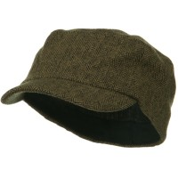 Cadet - Brown Wool Fashion Fitted Engineer Cap