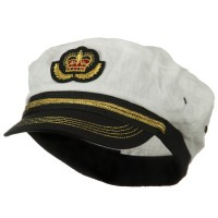 Costume - Linen Captain Hat | Free Shipping | e4Hats.com