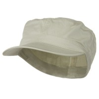 Cadet - Stone Big Size Cotton Fitted Cap