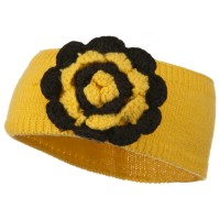 Band - Yellow Big Flower Knit Head Band