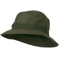 Bucket - Olive Water Repellent Microfiber Golf Hat