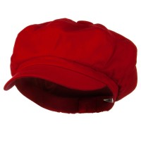 Newsboy - Red Big Size Cotton Newsboy Hat