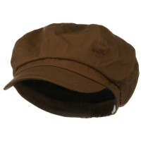 Newsboy - Brown Big Size Cotton Newsboy Hat