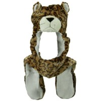 Costume - Leopard SW Long Flap Mitten Animal Hat