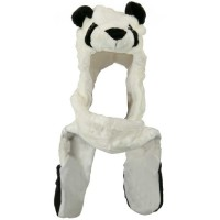Costume - Panda SW Long Flap Mitten Animal Hat