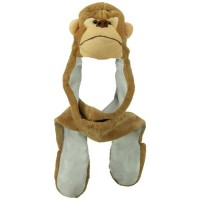 Costume - Monkey SW Long Flap Mitten Animal Hat