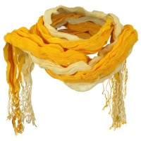 Scarf, Shawl - Yellow Tie Dye Bamboo Long Scarf