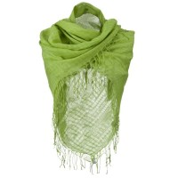 Scarf, Shawl - Lime Over sized Viscose Square Scarf