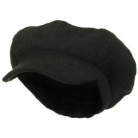 Newsboy - Charcoal Big Size Wool Newsboy Cap