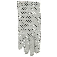 Glove - Silver Right H, Sequin Glove
