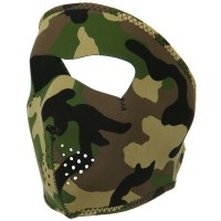 Face Mask - Woodland Camo Neoprene Full Face Mask