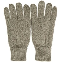 Glove - Oatmeal Men's Suede Wool Glove