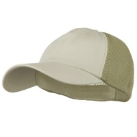 Ball Cap - Stone Khaki Big Size Summer Mesh Flexible Cap