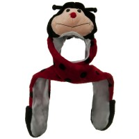 Costume - Lady Bug SW Long Flap Mitten Animal Hat