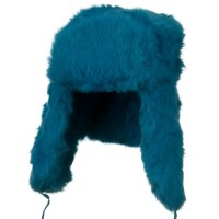 Trooper - Turquoise Rabbit Fur Trooper Hat