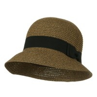 Bucket - Ribbon Round Crown Straw Hat | Free Shipping | e4Hats.com