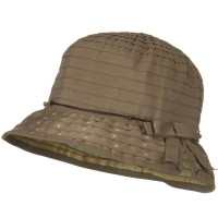 Bucket - Brown Sewn Ribbon Star Brim Bucket