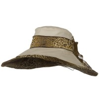 Dressy - Beige Woman's Hat Cheetah 6 Inch Hat