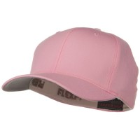 Ball Cap - Pink Wooly Combed Twill Flexfit Cap