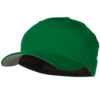 Ball Cap - Green Wooly Combed Twill Flexfit Cap