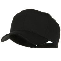 Ball Cap - Black Solid Cotton Twill Pro Style Cap