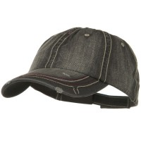Ball Cap - Low Frayed Herringbone Cap | Free Shipping | e4Hats.com
