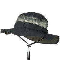Outdoor - Charcoal UV 50+ Mesh Bucket Hat Chin String