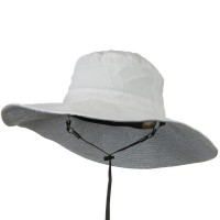 Outdoor - White UPF 50+ Wide Brim Talson Bucket Hat