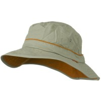 Outdoor - Khaki UV 50+ Orange Piping Sun Bucket Hat