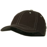 Ball Cap - Brown Flexfit Contrasting Stitch Cap