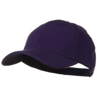 Ball Cap - Purple Cotton Jersey Knit Strap Cap