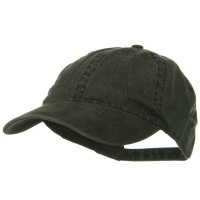 Ball Cap - Black Washed Cotton Brass Buckle Cap