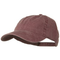 Ball Cap - Maroon Washed Cotton Brass Buckle Cap