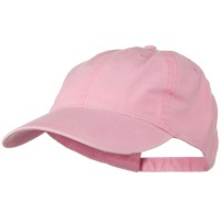 Ball Cap - Pink Washed Cotton Brass Buckle Cap
