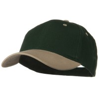 Ball Cap - Khaki Dark Green Khaki 2 Tone Brushed Bull Denim Cap