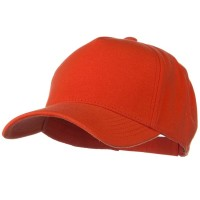 Ball Cap - Orange Cotton Jersey Knit 5 Panel Cap
