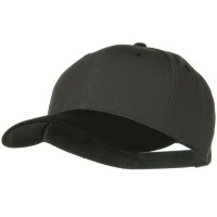 Ball Cap - Black Charcoal Two Tone Cotton Twill Cap
