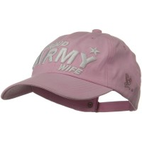 Embroidered Cap - Pink US Army Solid Cotton Cap
