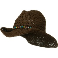 Western - Ladies Crochet Cowboy Hat | Free Shipping | e4Hats.com