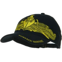 Surface Warfare Gold Navy Unit Cotton Cap: Navy Cap