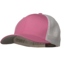 Ball Cap - Pink White Flexfit Trucker 2 Tone Cap