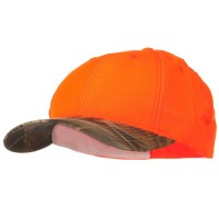 Ball Cap - Orange Camo Fluorescent Hunting Camouflage Cap