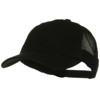 Ball Cap - Black Vintage Cotton Mesh Cap