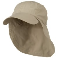 Flap Cap - Khaki Supplex Long Bill Neck Cap